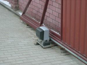 ворота откатные с электроприводом цена под ключ