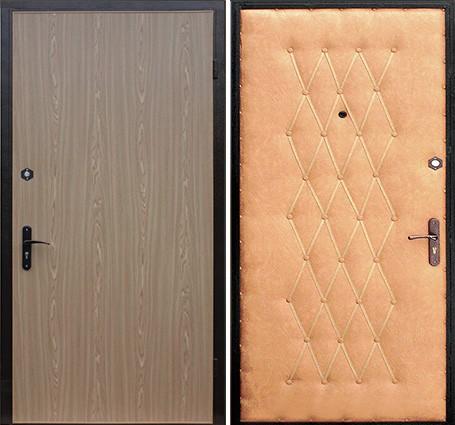 стальные двери с отделкой ламинат