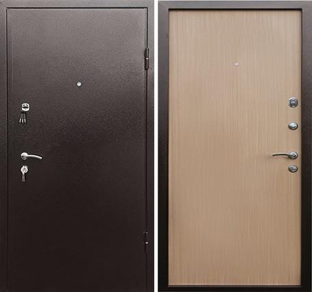 входная дверь с порошковым напылением и ламинатом