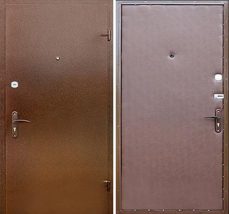 входная дверь с порошковым напылением и винилискожей