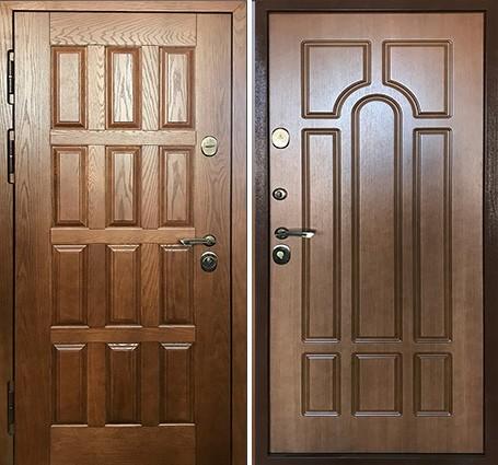 входная дверь с массивом