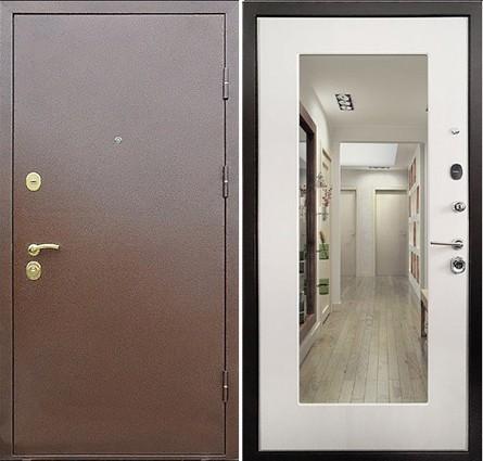 металлические двери с зеркалом в квартиру