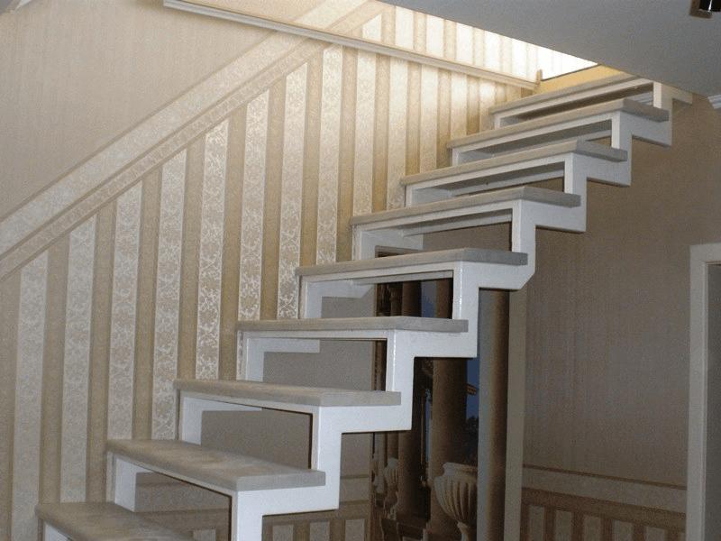 лестницы на двойном косоуре