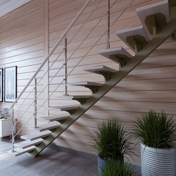 установка лестницы на монокосоуре