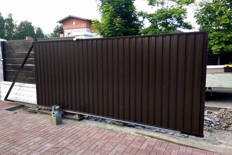 раздвижные ворота для дачи