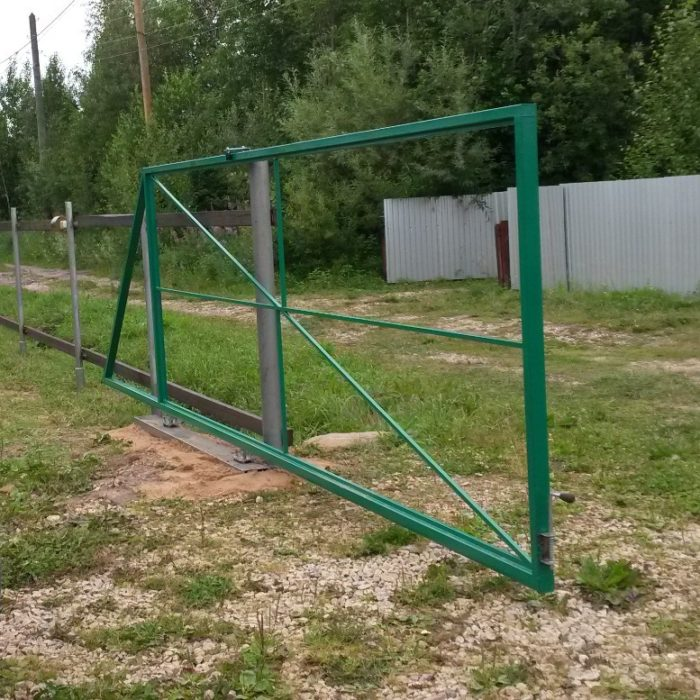 установка раздвижных ворот