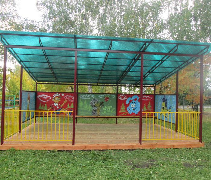 теневой навес для детского сада