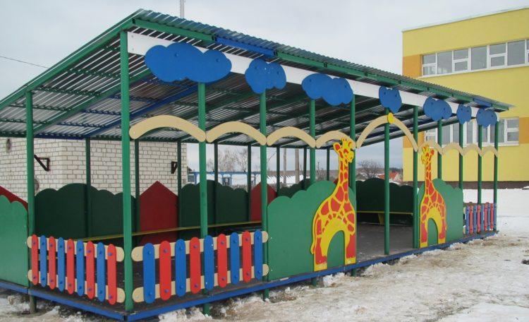 теневой навес для детского сада в Москве