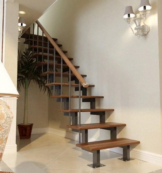 лестница на двойном косоуре
