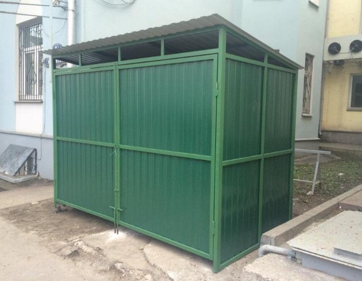 контейнерная площадка с воротами