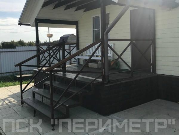 установка уличной лестницы