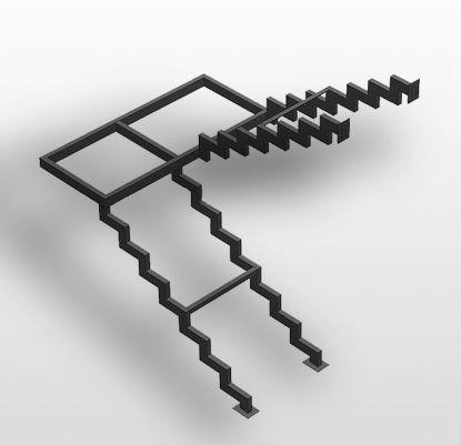 каркас лестницы на косоурах