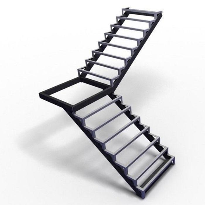 г образная лестница закрытого типа