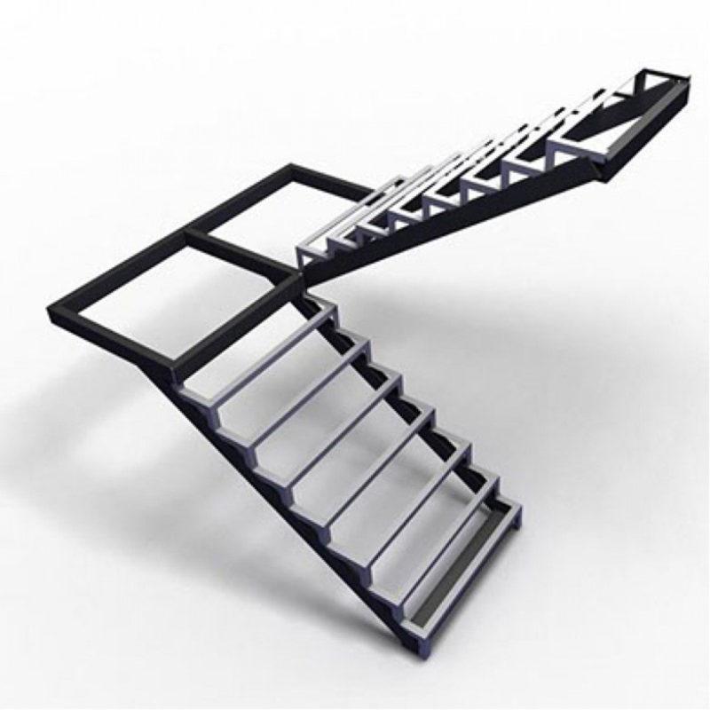 лестница закрытого типа с площадкой
