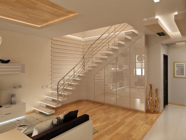 Лестница в двухэтажной квартире фото