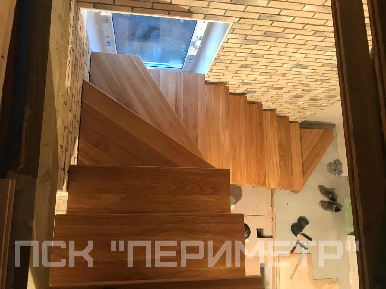 лестница на монокосоуре вид сверху
