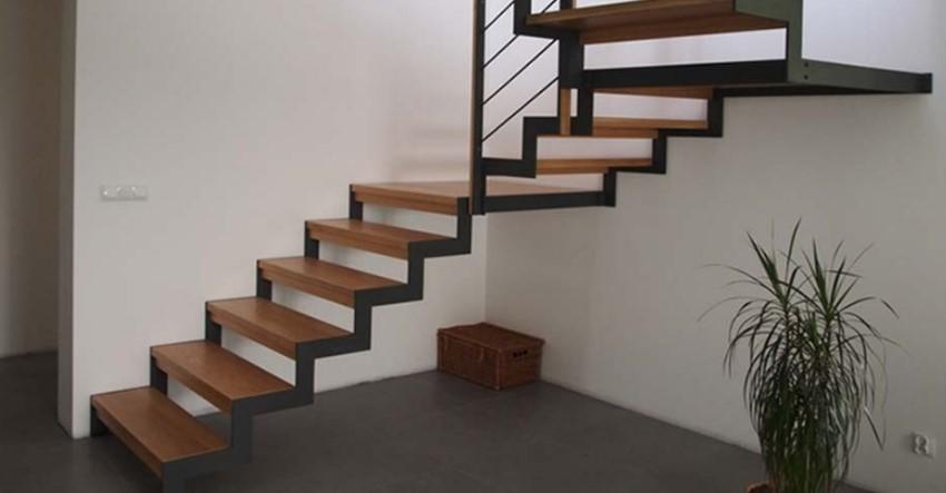 деревянные лестницы на металлокаркасе