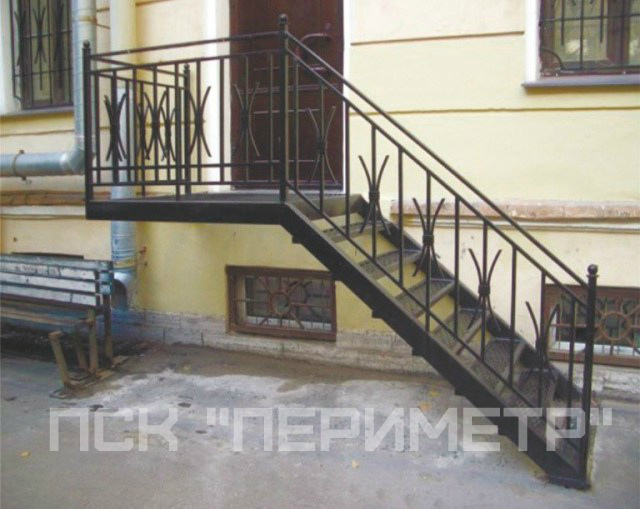 уличная лестница- фото работ
